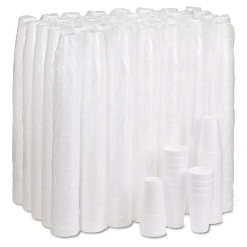 Foam Drink Cups, 16oz, White, 25/Bag, 40 Bags/Carton. Picture 4