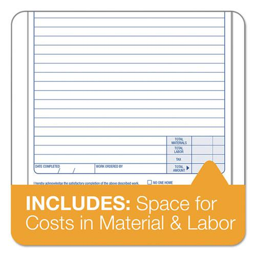 """Snap-Off Job Work Order Form, 5 2/3"""" x 8 5/8"""", Three-Part Carbonless, 50 Forms. Picture 4"""