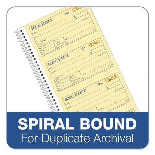 Money/Rent Receipt Spiral Book, 2-3/4 x 4 3/4, 2-Part Carbonless, 200 Sets/Book. Picture 5