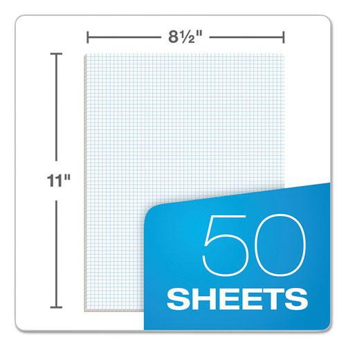 Quadrille Pads, 6 sq/in Quadrille Rule, 8.5 x 11, White, 50 Sheets. Picture 3