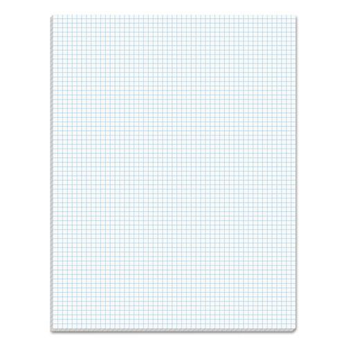Quadrille Pads, 6 sq/in Quadrille Rule, 8.5 x 11, White, 50 Sheets. Picture 1