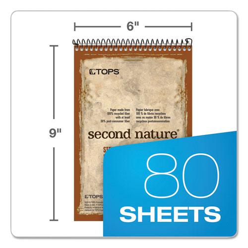 Second Nature Recycled Notebooks, Gregg Rule, 6 x 9, White, 80 Sheets. Picture 2
