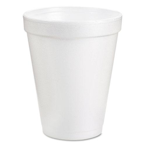 Foam Drink Cups, 6oz, White, 25/Bag, 40 Bags/Carton. Picture 1