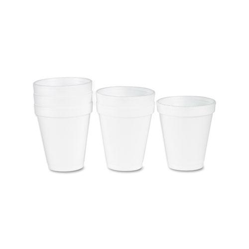 Foam Drink Cups, 6oz, White, 25/Bag, 40 Bags/Carton. Picture 2