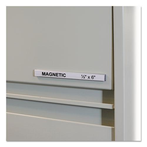 "HOL-DEX Magnetic Shelf/Bin Label Holders, Side Load, 1/2"" x 6"", Clear, 10/Box. The main picture."