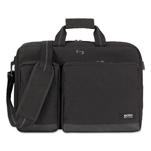 "Urban Hybrid Briefcase, 5"" x 17.25"" x 17.24"", Polyester, Black"