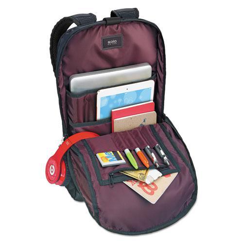 "Draft Backpack, 6.25"" x 18.12"" x 18.12"", Nylon, Black. Picture 2"