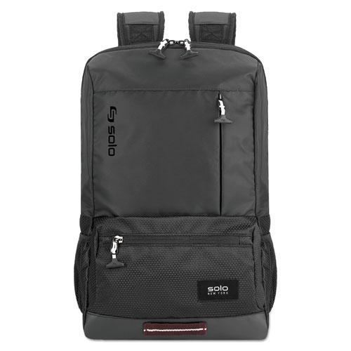 "Draft Backpack, 6.25"" x 18.12"" x 18.12"", Nylon, Black. Picture 1"