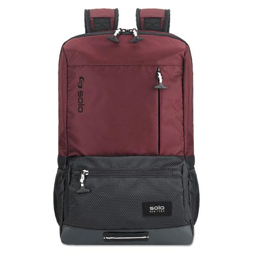"Draft Backpack, 6.25"" x 18.12"" x 18.12"", Nylon, Burgundy"