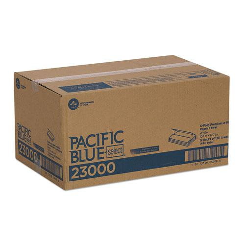 Pacific Blue Select C-Fold Paper Towels, 10 1/10 x 13 1/5,White,120/PK,12 PK/Ct. Picture 4