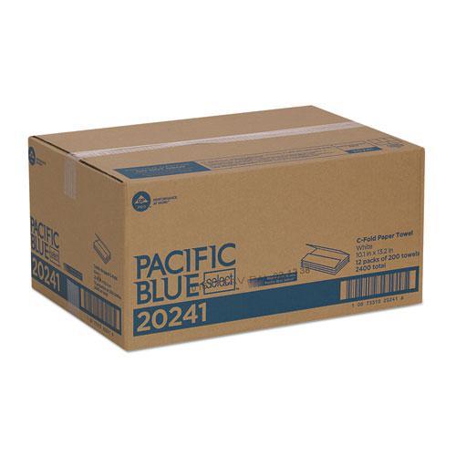 Pacific Blue Select C-Fold Paper Towel, 10 1/10 x 13 2/5,White,200/PK, 12 PK/CT. Picture 3