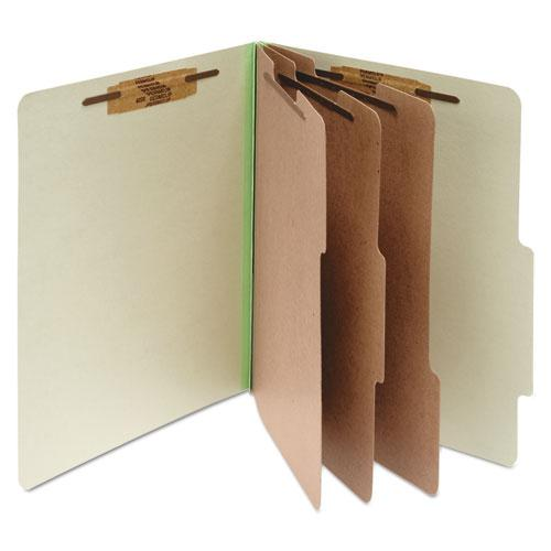 Pressboard Classification Folders, 3 Dividers, Letter Size, Leaf Green, 10/Box. Picture 1