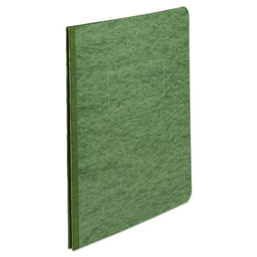 """Pressboard Report Cover, Prong Clip, Letter, 3"""" Capacity, Dark Green. Picture 1"""