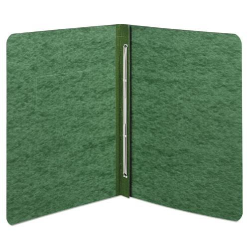 """Pressboard Report Cover, Prong Clip, Letter, 3"""" Capacity, Dark Green. Picture 2"""