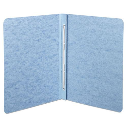 """Pressboard Report Cover, Prong Clip, Letter, 3"""" Capacity, Light Blue. Picture 2"""