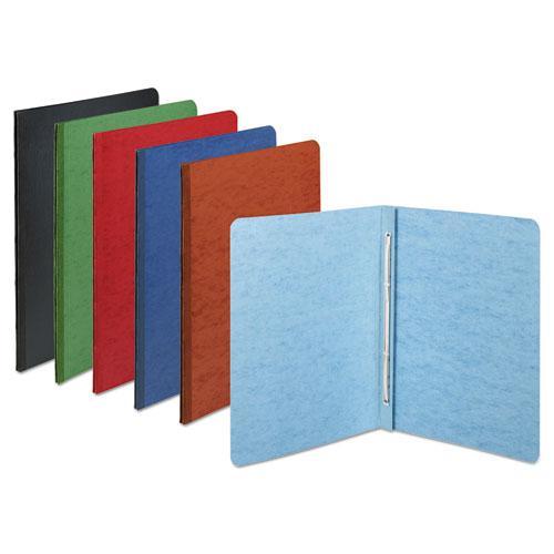"Presstex Report Cover, Side Bound, Prong Clip, Letter, 3"" Cap, Light Blue. Picture 2"