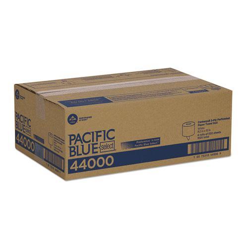 Pacific Blue Select 2-Ply Center-Pull Perf Wipers,8 1/4 x 12, 520/Roll, 6 RL/CT. Picture 5