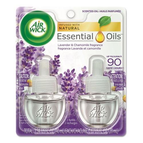 Scented Oil Refill, Lavender & Chamomile, 0.67oz, Purple, 2/Pack. Picture 1