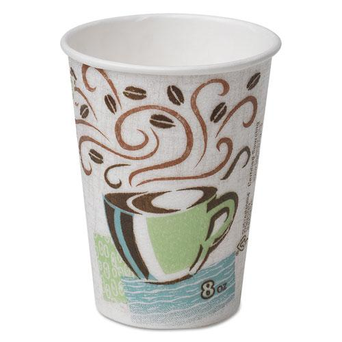 PerfecTouch Hot Cups, Paper, 8 oz, Coffee Haze Design, 500/Carton. Picture 1