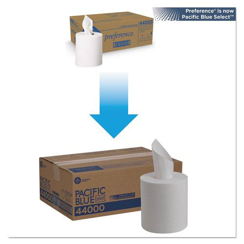 Pacific Blue Select 2-Ply Center-Pull Perf Wipers,8 1/4 x 12, 520/Roll, 6 RL/CT. Picture 2