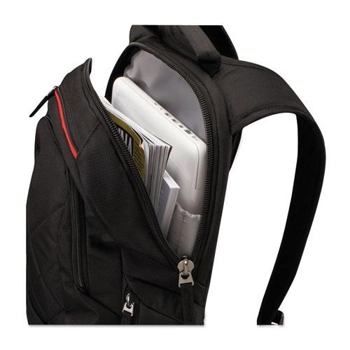 """Diamond 14"""" Backpack, 6.3"""" x 13.4"""" x 17.3"""", Black. Picture 2"""