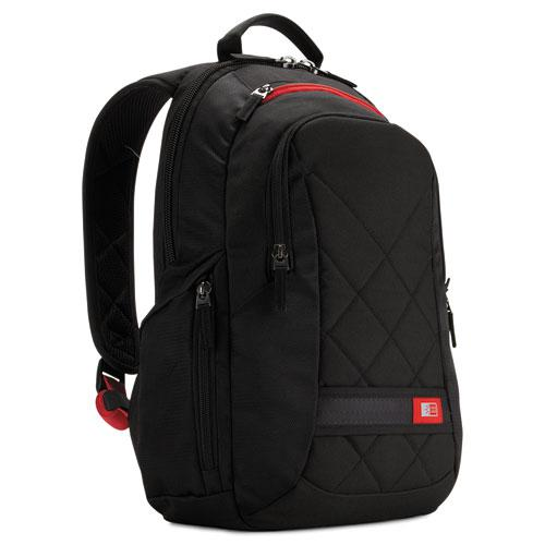"""Diamond 14"""" Backpack, 6.3"""" x 13.4"""" x 17.3"""", Black. Picture 1"""