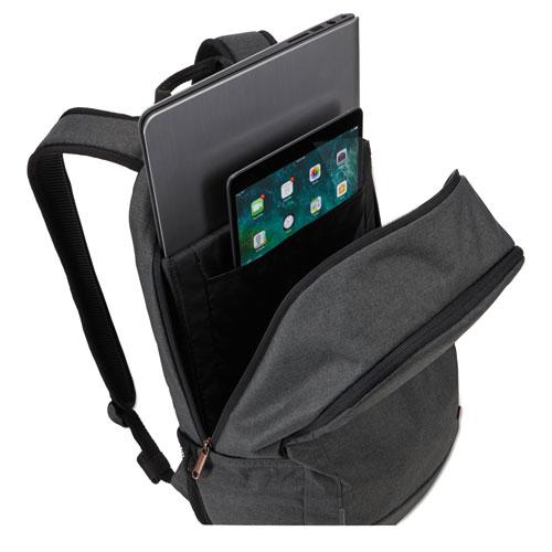 """Era 15.6"""" Laptop Backpack, 9.1"""" x 11"""" x 16.9"""", Gray. Picture 2"""