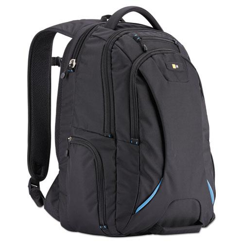 """15.6"""" Checkpoint Friendly Backpack, 2.76"""" x 13.39"""" x 19.69"""", Polyester, Black. Picture 1"""