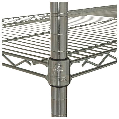 NSF Certified Industrial 4-Shelf Wire Shelving Kit, 36w x 24d x 72h, Silver. Picture 10
