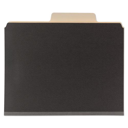 Colored Top Tab Classification Folders, 6 Sections, Letter, Dark Gray, 10/BX. Picture 2