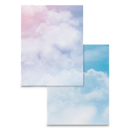 Pre-Printed Paper, 28 lb, 8.5 x 11, Clouds, 100/Pack. Picture 1
