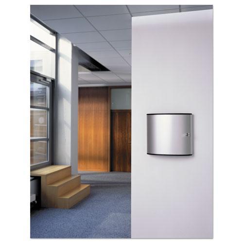 Locking Key Cabinet, 36-Key, Brushed Aluminum, Silver, 11 3/4 x 4 5/8 x 11. Picture 15
