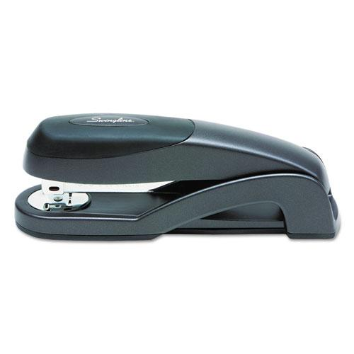 Optima Full Strip Desk Stapler, 25-Sheet Capacity, Graphite Black. Picture 3