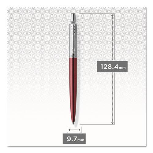 Jotter Gel Pen with Gift Box, Medium, 0.7 mm, Black Ink, Red Barrel. Picture 8