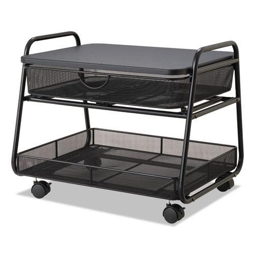 Onyx Under Desk Machine Stand, 2 Shelves, 21w x 16d x 17.5h, Black, 100-lb Capacity. Picture 1