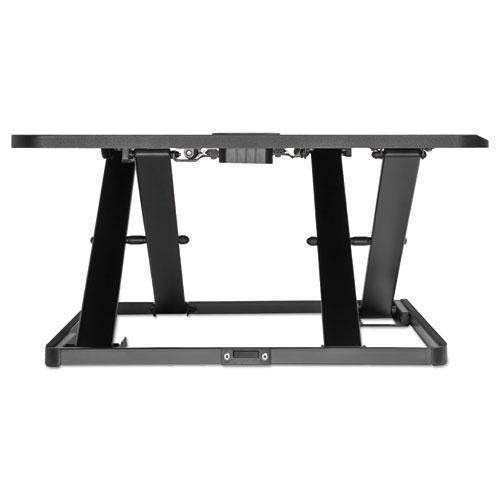 "AdaptivErgo Ultra-Slim Sit-Stand Desk, 31.33"" x 21.63"" x 1.5"" to 16"", Black. Picture 3"