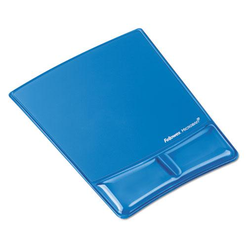 Gel Wrist Support w/Attached Mouse Pad, Blue. Picture 1