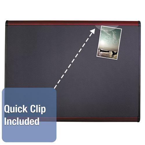 Prestige Plus Magnetic Fabric Bulletin Board, 48 x 36, Mahogany Frame. Picture 5