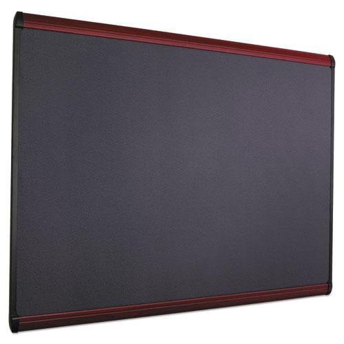 Prestige Plus Magnetic Fabric Bulletin Board, 48 x 36, Mahogany Frame. Picture 9