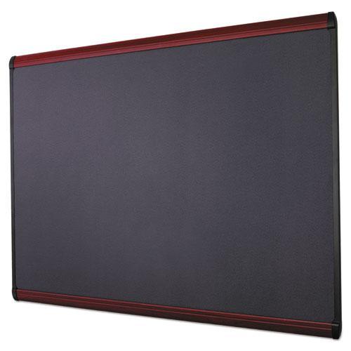Prestige Plus Magnetic Fabric Bulletin Board, 48 x 36, Mahogany Frame. Picture 8