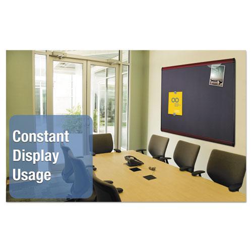 Prestige Plus Magnetic Fabric Bulletin Board, 48 x 36, Mahogany Frame. Picture 6