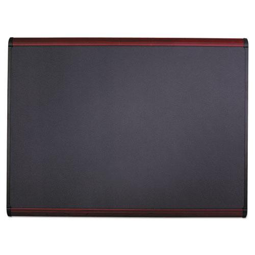Prestige Plus Magnetic Fabric Bulletin Board, 48 x 36, Mahogany Frame. Picture 7