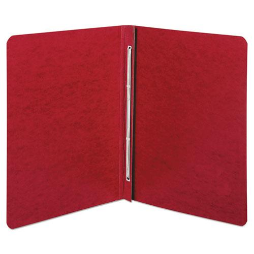 "Presstex Report Cover, Side Bound, Prong Clip, Letter, 3"" Cap, Executive Red. Picture 1"