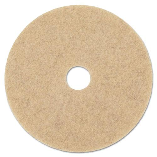 """Natural Hog Hair Burnishing Floor Pads, 19"""" Diameter, 5/Carton. Picture 1"""