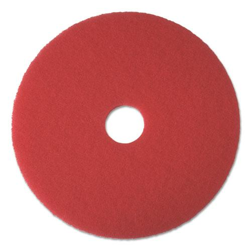 """Buffing Floor Pads, 17"""" Diameter, Red, 5/Carton. Picture 1"""
