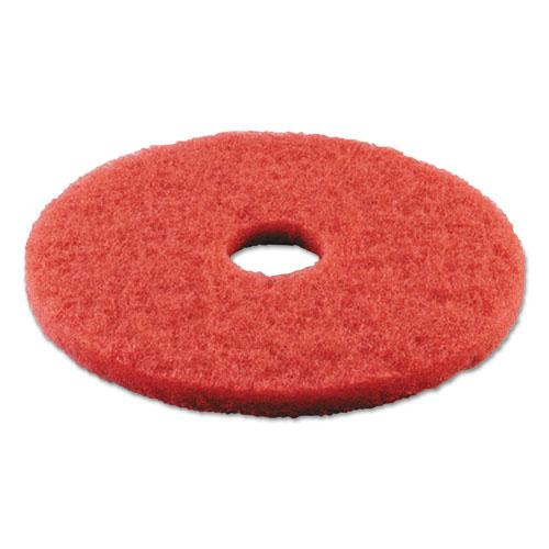"""Buffing Floor Pads, 17"""" Diameter, Red, 5/Carton. Picture 3"""