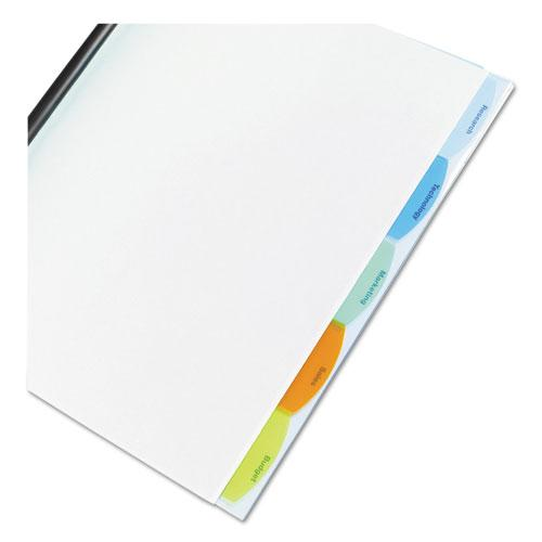 Polypropylene View-Tab Report Cover, Binding Bar, Letter, Holds 20 Pages, Clear. Picture 2