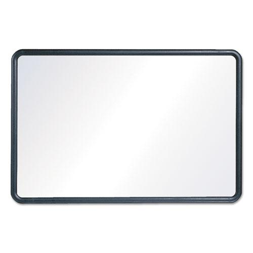 Contour Dry-Erase Board, Melamine, 24 x 18, White Surface, Black Frame. Picture 4
