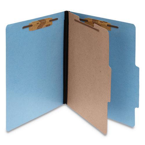ColorLife PRESSTEX Classification Folders, 1 Divider, Letter Size, Light Blue, 10/Box. Picture 1