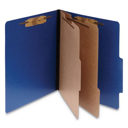 ColorLife PRESSTEX Classification Folders, 2 Dividers, Letter Size, Dark Blue, 10/Box. Picture 1
